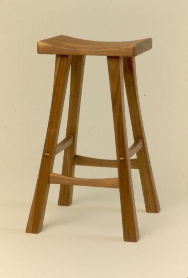 The Rogowski Stool in Walnut